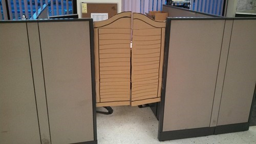 cubicles privacy office cubicle saloon swinging doors g rated there I fixed it - 7085429760