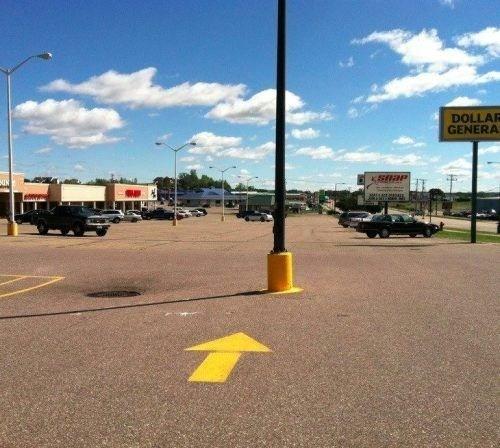 lamp post parking lots road signs - 7085444352