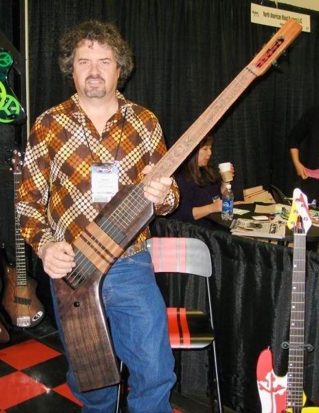 homemade instruments guitars hockey stick - 7085556224