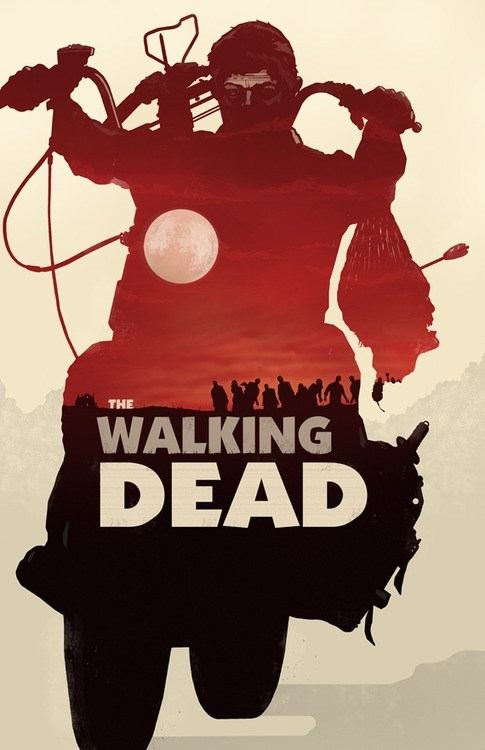 art,poster,TV,The Walking Dead