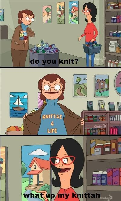 knitting,TV,bobs-burgers,Knitta Please
