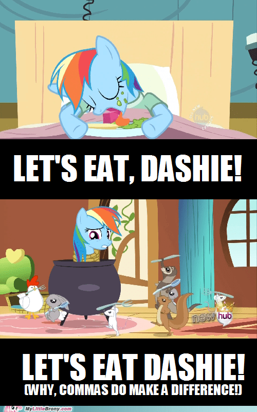 punctuation,comma,rainbow dash