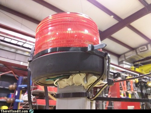 zip ties siren light