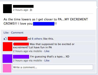 excrement,typos