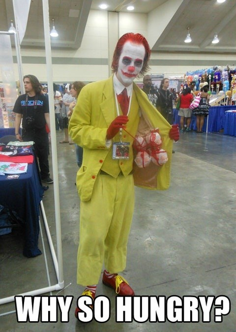 crossover cosplay McDonald's the joker batman