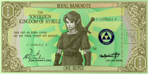 art banknote zelda money - 7085787904