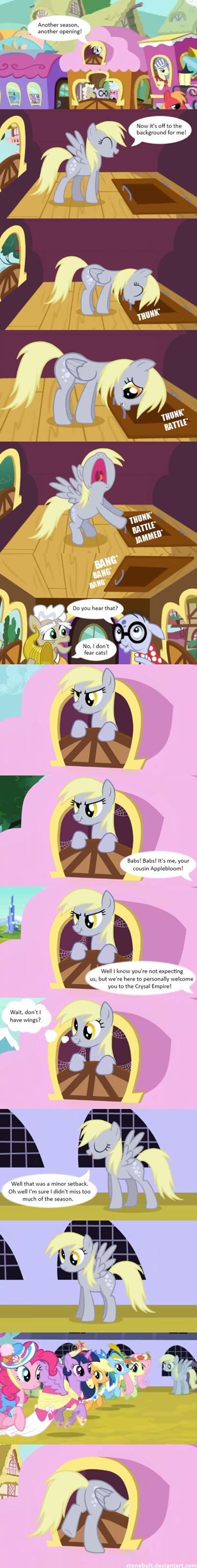 bolt of stone,derpy hooves,amazing comic,comic,opening