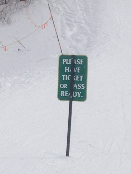 sign,my body is ready,accidental gross,skiing