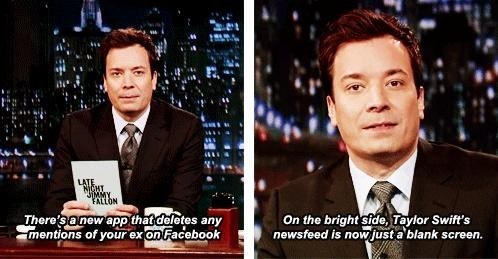 taylor swift,jimmy fallon,facebook,exes