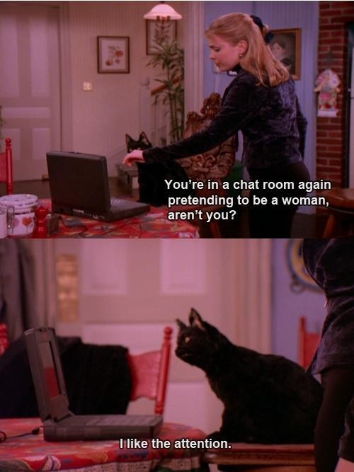 sabrina the teenage witch,chat rooms,attention,pretending