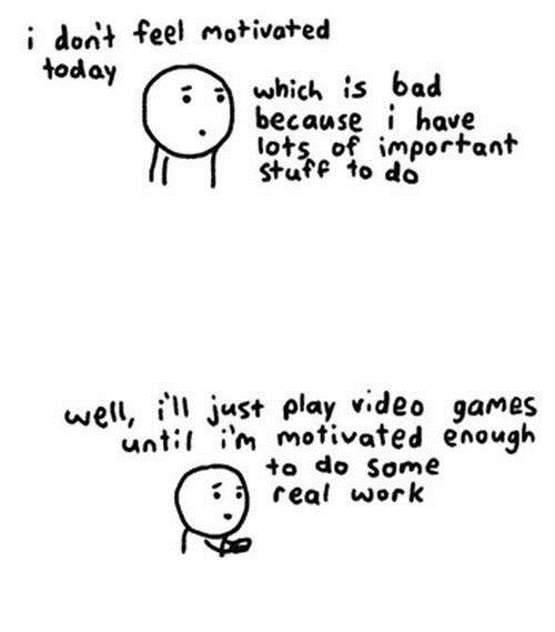 motivation,work,video games