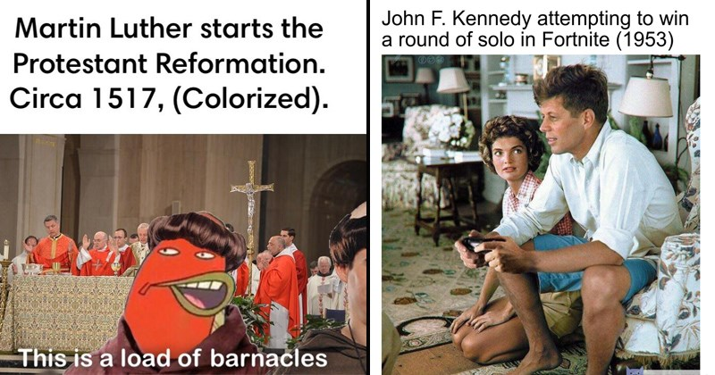 fake satirical history memes