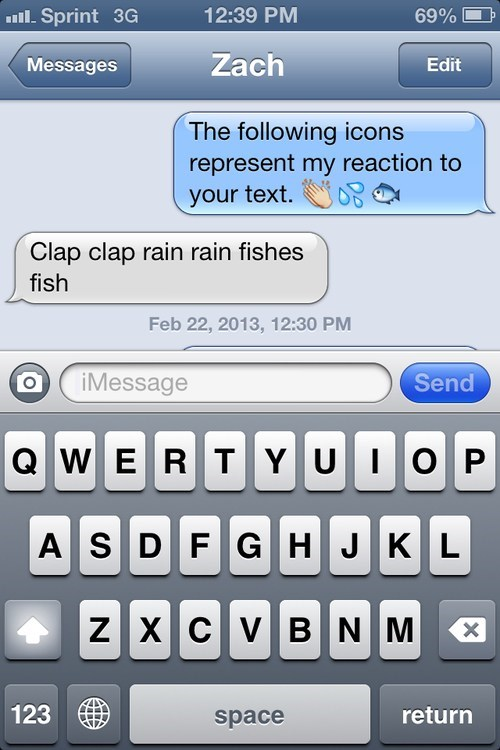 iPhones,emoticons,fish