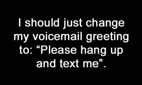 voicemail pointless technology texting g rated AutocoWrecks