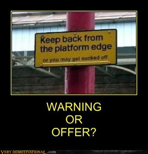 warning,sign,strange,platform