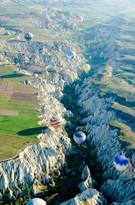 Riding a Hot Air Balloon in Cappadocia