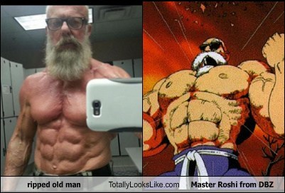 ripped old man,master roshi,TLL,dragonball z