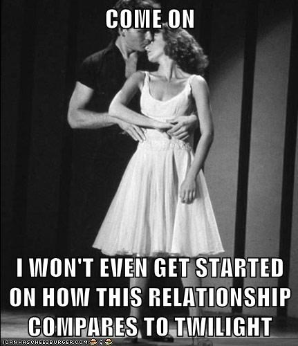 Patrick Swayze,jennifer grey,still a better love story than twilight,dirty dancing