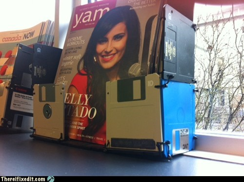 floppy disks,magazine rack