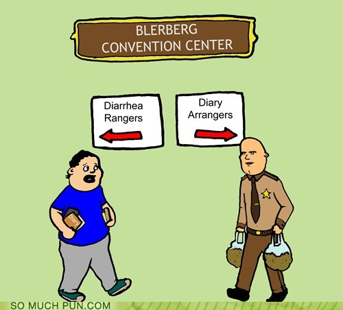 diarrhea,confusing,rangers,convention,arrangers,homophones,double meaning,diary