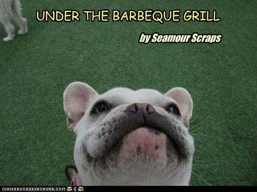 UNDER THE BARBEQUE GRILL by Seamour Scraps