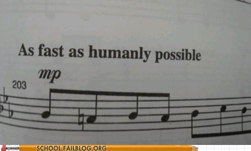 Music tempo fast