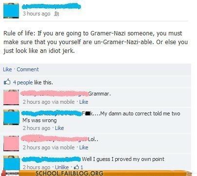 grammar auto correct facebook nazi - 7087599360