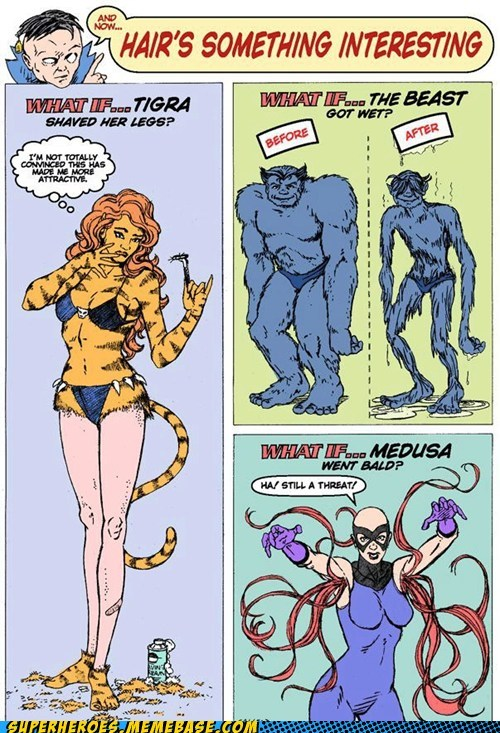 beast,medusa,tigra,what if