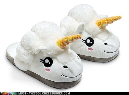 horns unicorns slippers