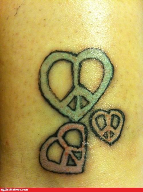 pretzels peace signs hearts - 7088244480