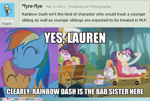 lauren faust,Sweetie Belle,sweetabuse,rarity,Scootaloo,rainbow dash