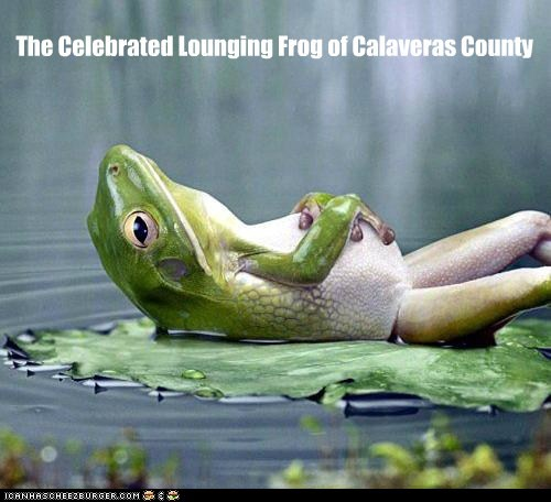 The Celebrated Lounging Frog of Calaveras County