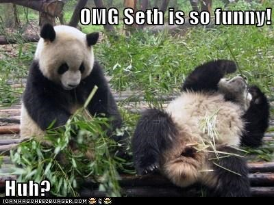 OMG Seth is so funny!  Huh?