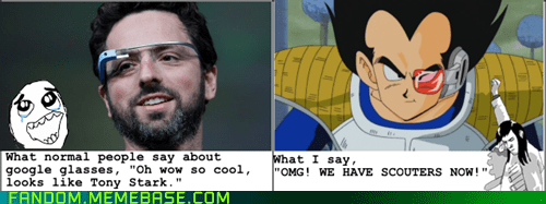 Dragon Ball Z,scouter,cartoons,google glass