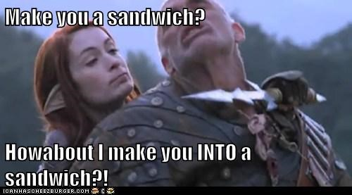 Felicia Day,Dragon Age Redemption,sandwich,dragon age