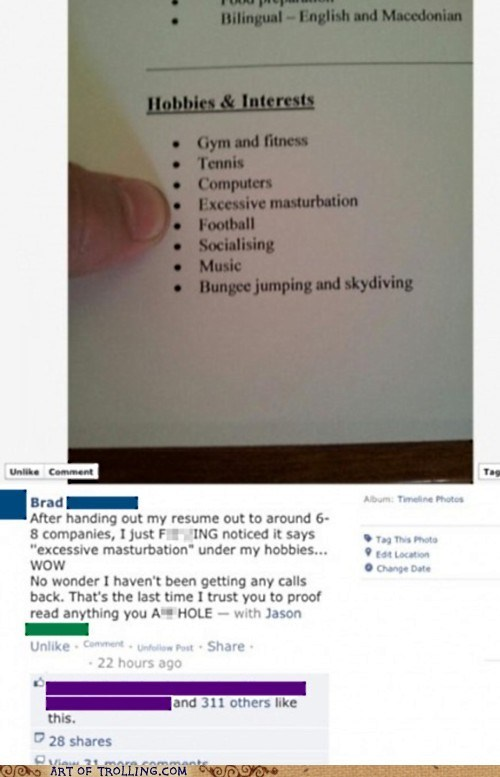 work,facebook,fapping,resume
