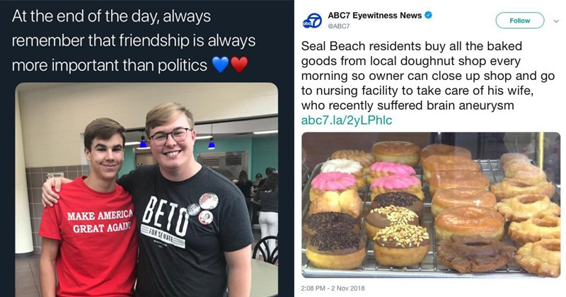 cover image about how friendship is more important than politics, residents buy all baked goods from bakery