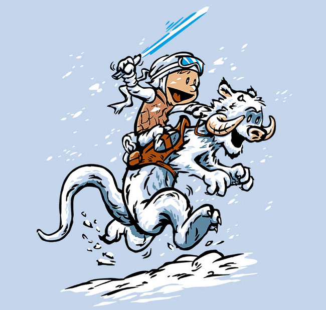 calvin and hobbes star wars list Fan Art - 709125