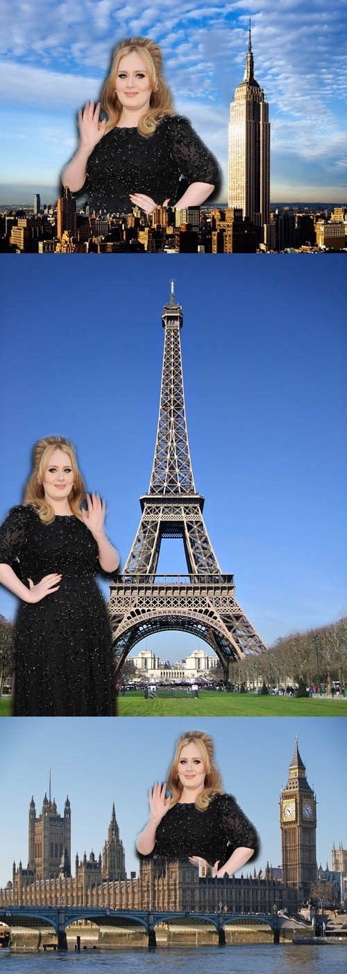 adele adele standing next to things academy awards - 7091400960