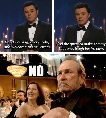 Seth MacFarlane tommy lee jones oscars - 7091421952