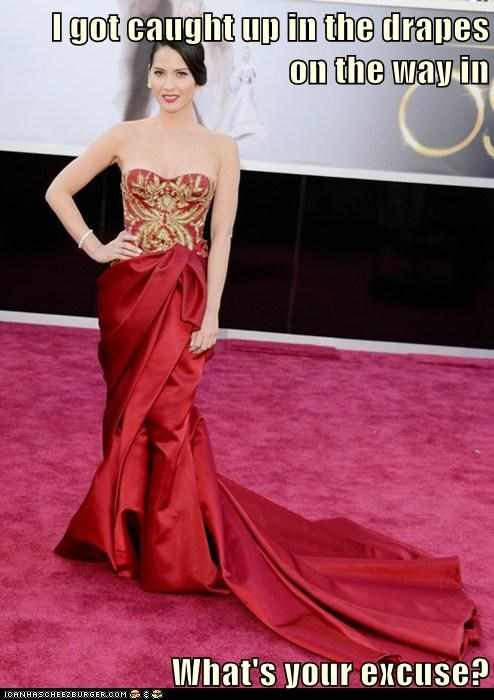 drapes,Olivia Munn,dress,oscars