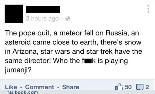 snowpocalypse russia jumanji meteors pope benedict failbook - 7091744000