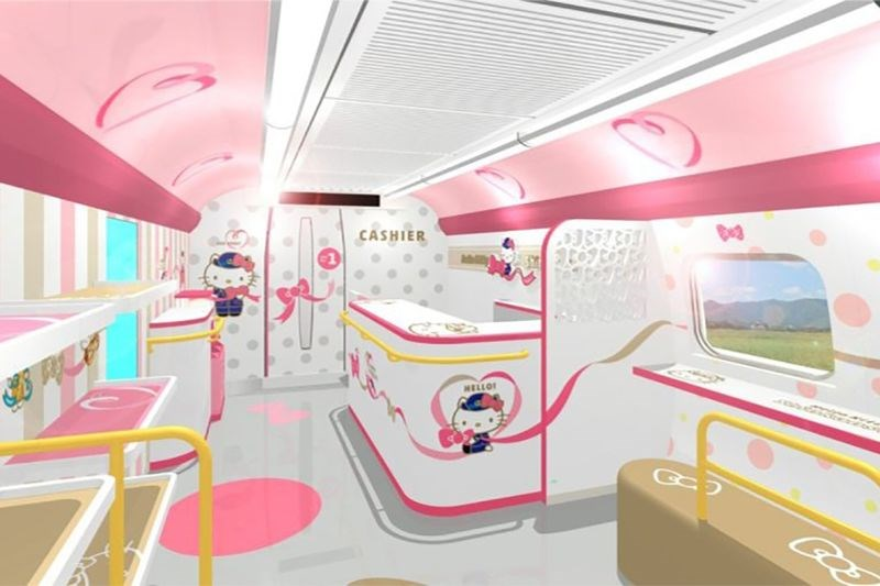 design hello kitty Japan train - 7092485