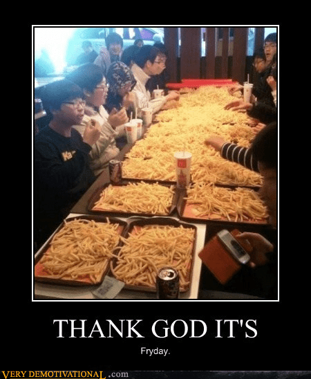 wtf FRIDAY fries Japan - 7092774144