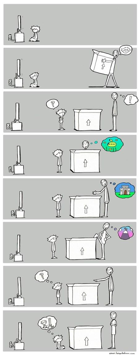 box comic imagination