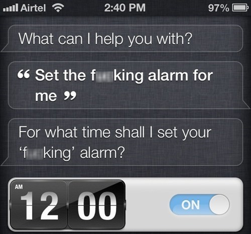 siri,alarms,waking up