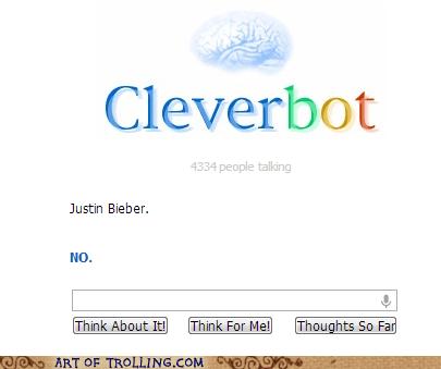 Cleverbot,justin bieber