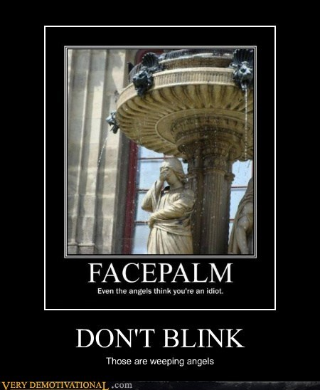 facepalm,doctor who,weeping angles