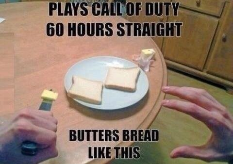 call of duty,IRL,bread