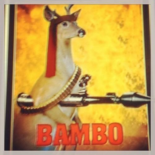 rambo,deer,bambi